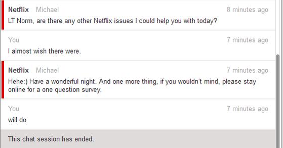 """Netflix Conversation #3"""